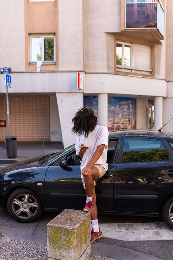 Full length of man standing on street
