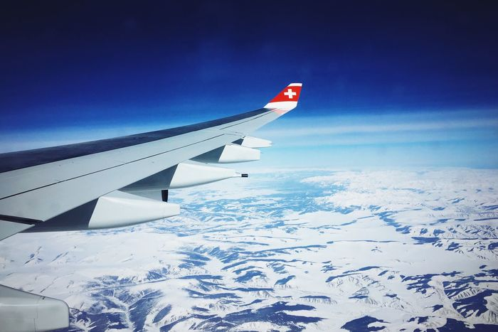 Somewhere over Mongolia Flyswiss Mongolia Plane Wings Hello World Sky Let's Go. Together.