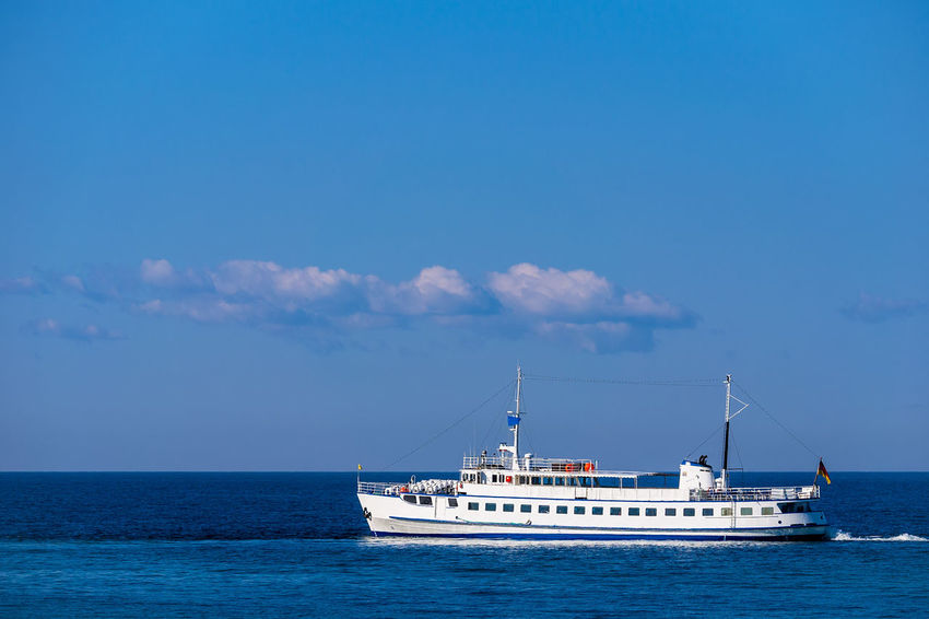 Passenger ship on the Baltic Sea. Baltic Sea Kuehlungborn Passenger Ship Relaxing Beach Beauty In Nature Day Horizon Over Water Journey Kühlungsborn Mode Of Transport Nature Nautical Vessel No People Outdoors Sailing Scenics Sea Ship Sky Tranquility Transportation Vessel Water Waterfront