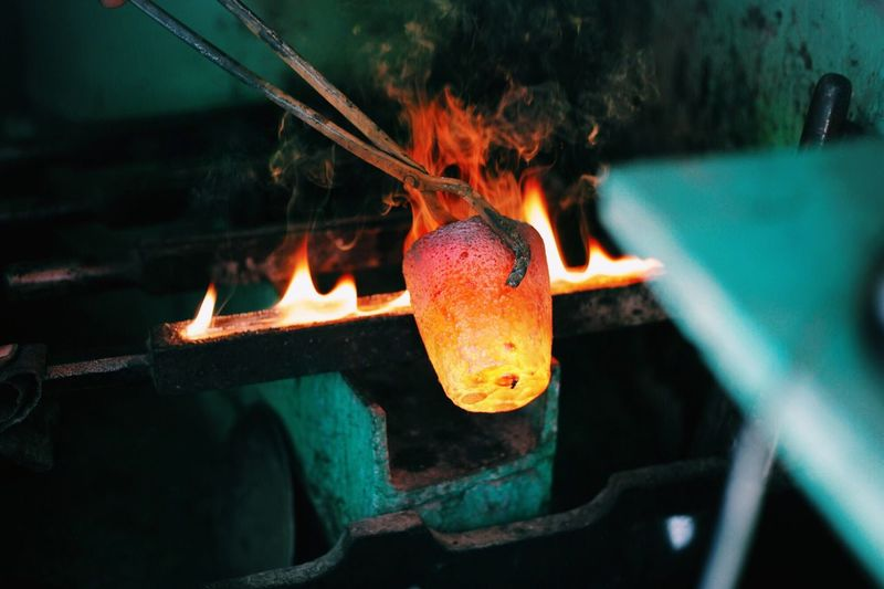 Production Of Glass In Factory