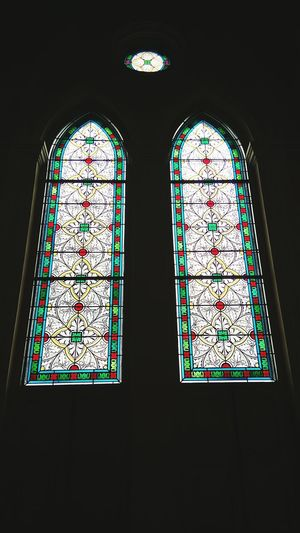 Stained Glass Window Indoors  Multi Colored Spirituality Travel Destinations Day