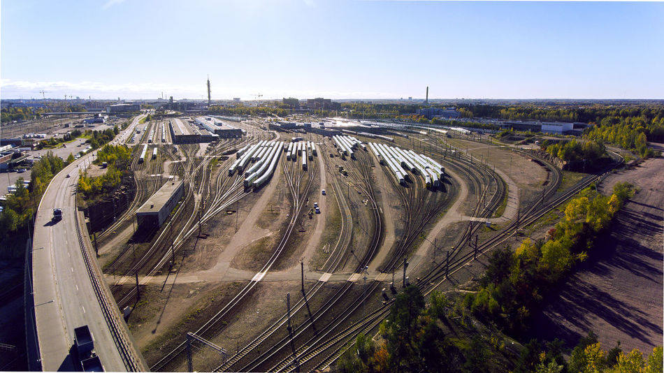 Aerial Photography Aerial View Aero Construction Industry Industrial No People Photography Photooftheday Train Station Train Tracks Transportation