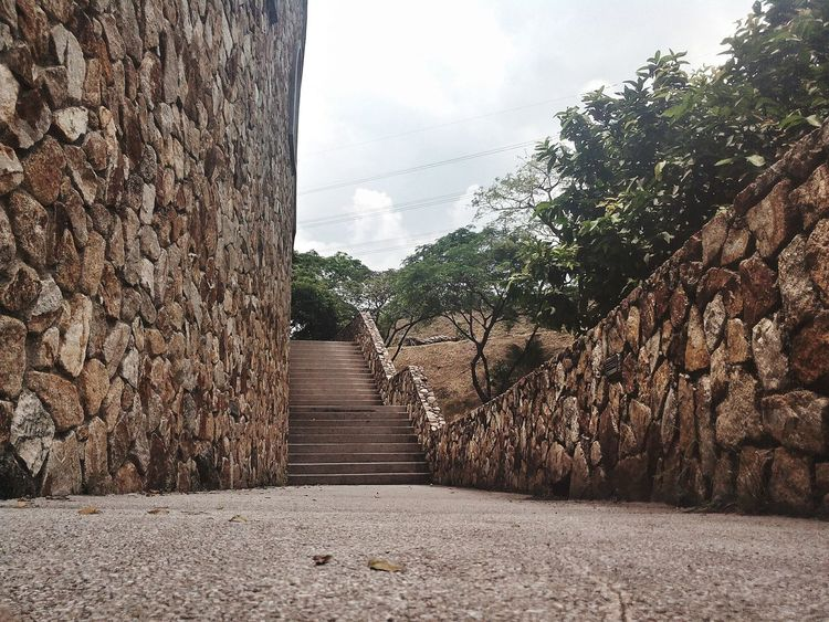 Tree The Way Forward No People Day Outdoors Sky Nature Close-up Old Castle Abandoned Building Pedestrian Walkway Stones Wall Stair Bricks Panorama Outdoor Malaysia