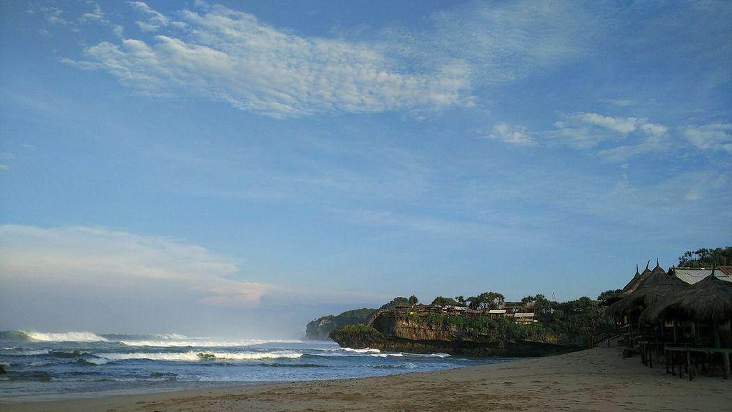 The Essence Of Summer BeachPantaidrini Gunungkidul Yogyakarta INDONESIA Morningview Sea Blue Wind
