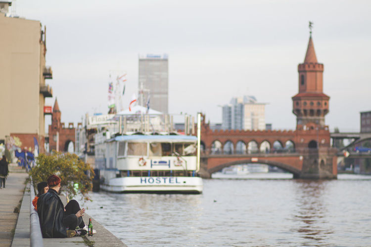 Berlin Architecture Water Building Exterior Transportation Built Structure Nautical Vessel River Real People Mode Of Transportation City Nature Travel Adult Day Connection Sky Women Men Bridge Outdoors Bridge - Man Made Structure Passenger Craft Springtime Decadence
