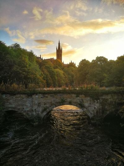 Reflection Water Cloud - Sky Architecture Bridge - Man Made Structure No People Sky WeekOnEyeEm GlasgowUniversity EyeEm Gallery Sunrise River Kelvin Kelvingrove Park