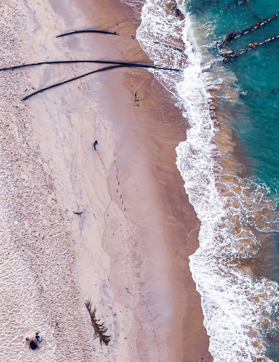 High angle view of beach.walking by the beach will releasw your stress