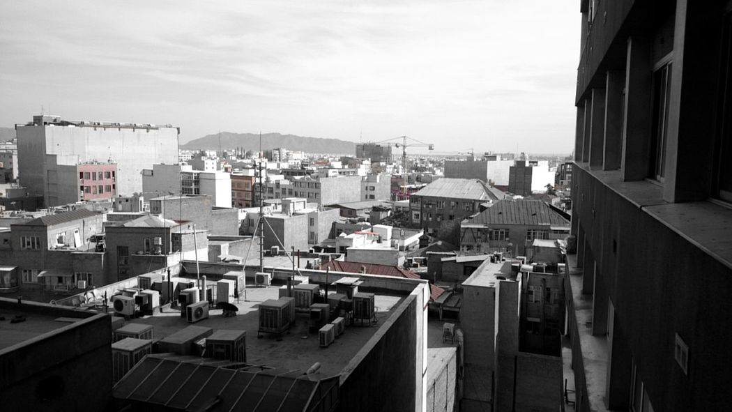 Roof Rooftop Rooftops Roof Tops Red Filter City View  Feeling Depressed Grey Sky
