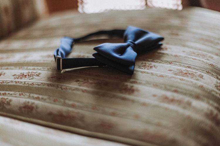 Close-up of headband on table