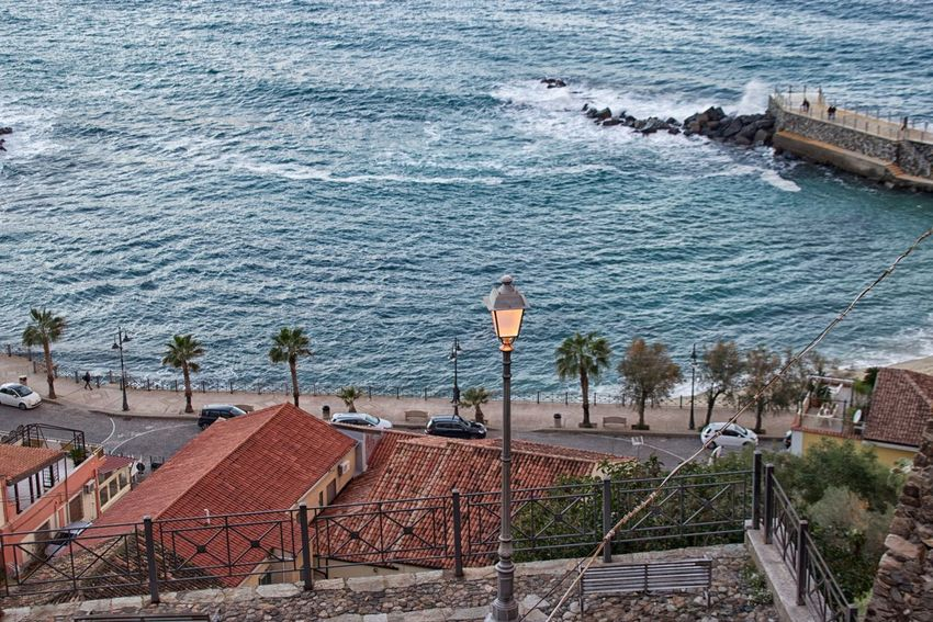 Beauty In Nature Day High Angle View Horizon Over Water Nature No People Outdoors Pizzo Calabro Scenics Sea Water
