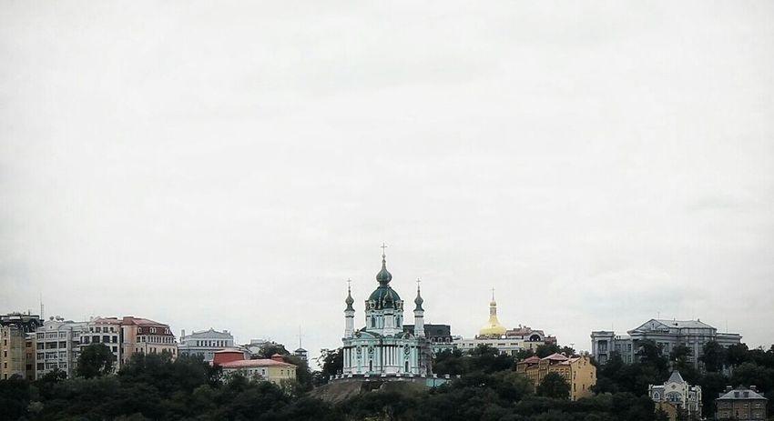 Architecture City Ukraine Kyiv Clear Sky Photo Canon Church Ukrainian Baroque Baroque Cold Landscape View