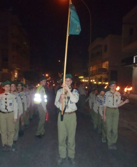 25th March Parade Scouts Casual Clothing City Life Illuminated Lantern March Scouts Flag Lantern Parade Scouts Leisure Activity Lifestyles Lighting Equipment Limassol Scouts Night Night March Scouts Outdoors Scouts Cyprus Scouts Flag Scouts On Parade