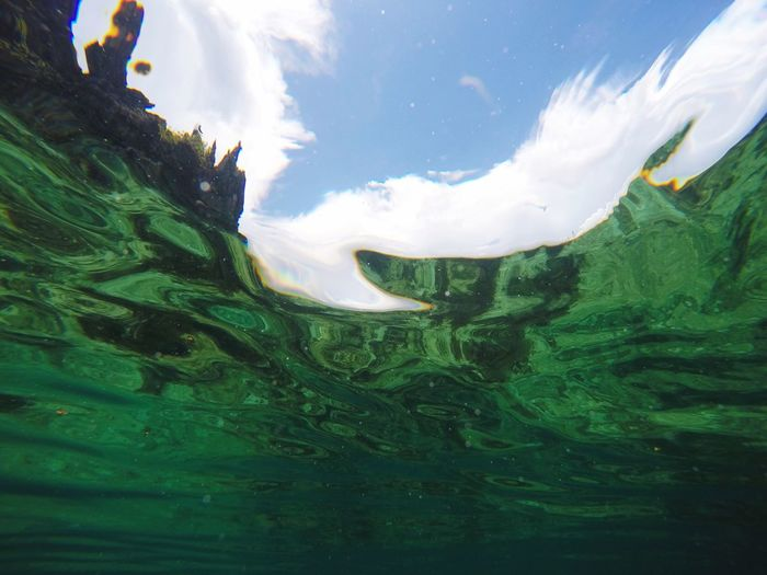 Showing Imperfection the Sky fro under Water of Elnido Island Hanging Out Hi! Enjoying Life Taking Photos Gopro Goprohero4