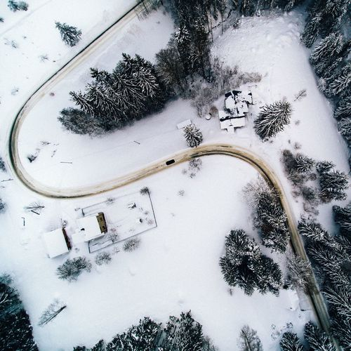 - Curve - Tree Winter High Angle View Snow No People Outdoors Nature Cold Temperature Outdoor Landscape Tree Cold Czech Republic Drone  From Above  EyeEm Best Shots EyeEm Nature Lover Winter Beauty In Nature Nature Wintertime Cold Days EyeEm Best Edits Road Curve Flying High Lost In The Landscape