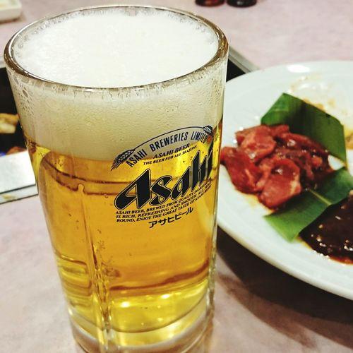食べもの Food Foods 酒 Beer Beers Alcohol Drink Beer Bottle Beer - Alcohol Beer Glass Drinking Glass 安楽亭 焼き肉 やきにく 焼き肉♡