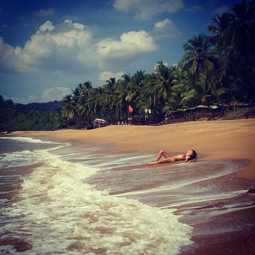 Just me & my lovely southern Goa Paradise Dream Bestbeach Beach