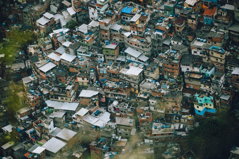Rocinha Favela, Rio de Janeiro - Brazil Chaos Disorder Favela Rocinha Houses Rio De Janeiro Rocinha Rooftop Architecture Building Exterior City Cityscape Crowded Day Disorganised Disorientation Favela High Angle View Hillside Hillside View Houses And Windows Outdoors Overcrowded Poverty Rocinha Slum Slum Fresh On Market 2017