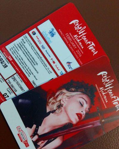 อยู่ในมือเรียบร้อย ขอให้ทุกท่านโชคดี Ticket Rebelheartour Madonna Thailand Bangkok Thaiticketmajor