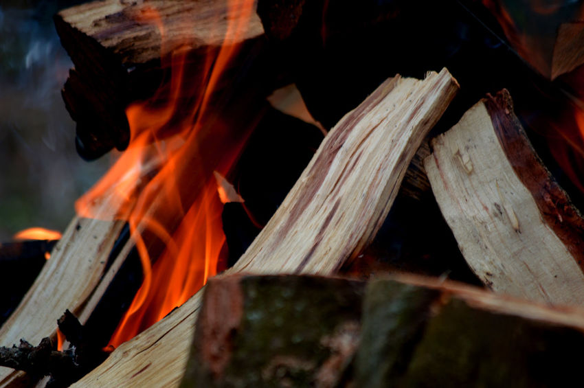 Braai Time!! Burning Wood Close-up Day Fire Firewood Heat - Temperature No People Orange Color Outdoors Wood