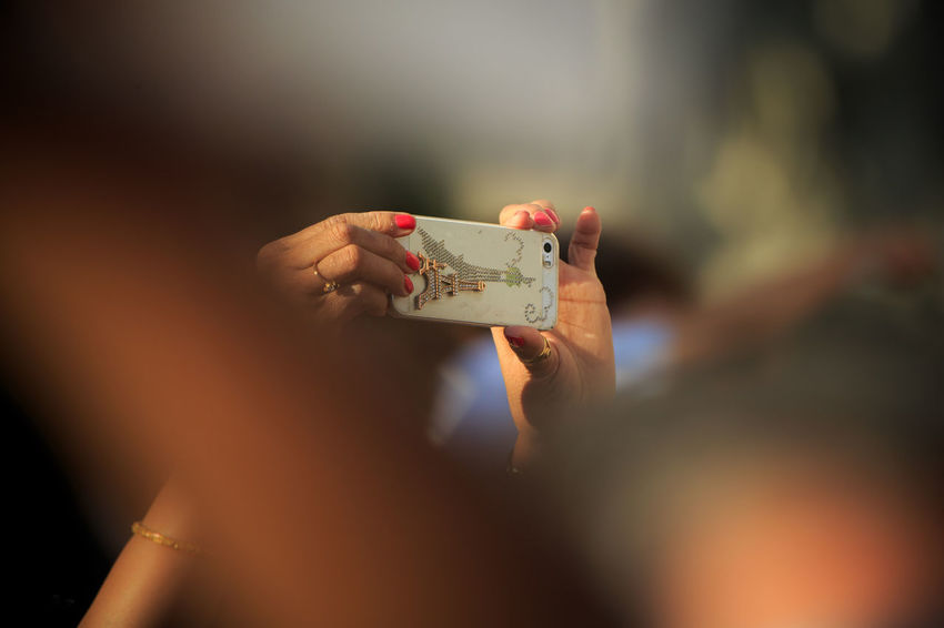 Selective Focus One Person Human Hand Human Body Part Hand Single Object Airphones Paris, France  France