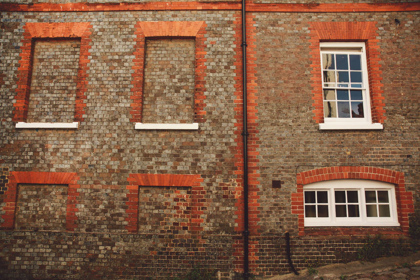 Architecture Backgrounds Brick Wall Building Building Exterior Built Structure Close-up Day Exterior Full Frame No People Outdoors Red Repetition Residential Building Residential Structure Summer Sunset The Architect - 2016 EyeEm Awards Beautifully Organized