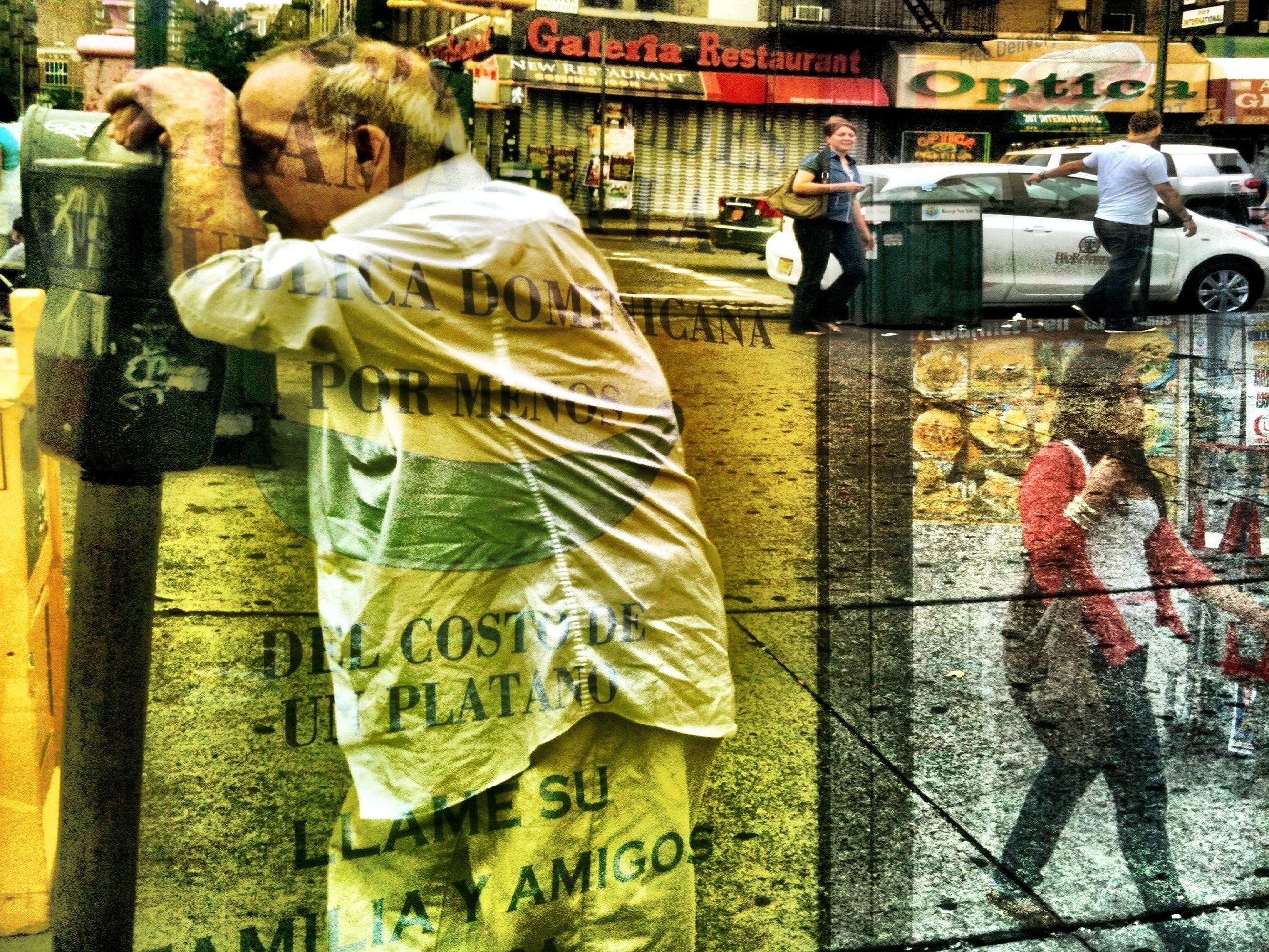 art, art and craft, creativity, human representation, bird, men, lifestyles, full length, outdoors, person, street, day, animal representation, animal themes, incidental people, standing, leisure activity
