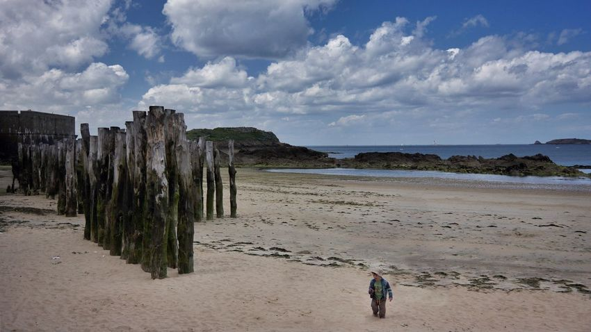 Lost Boy Beachphotography Beach Life On The Beach Colours Peace And Quiet Bretagne Colourful Walking Walking Alone... Sea And Sky Blue Sky Cloud Cloud And Sky Saint Malo Life Is A Beach Child Sunny Day Summer ☀