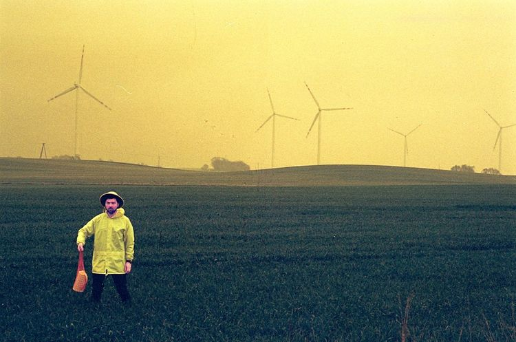 Yellow 35mm 35mm Film Analogue Analogue Photography Dazed Paint The Town Yellow Alternative Energy Analog Bestoftheday Day Daze Film Photography Filmisnotdead One Person People Photo Photooftheday Wind Turbine Yellow