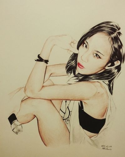 Fei 미스에이 Ballpoint Draw Paint Drawing Esedy