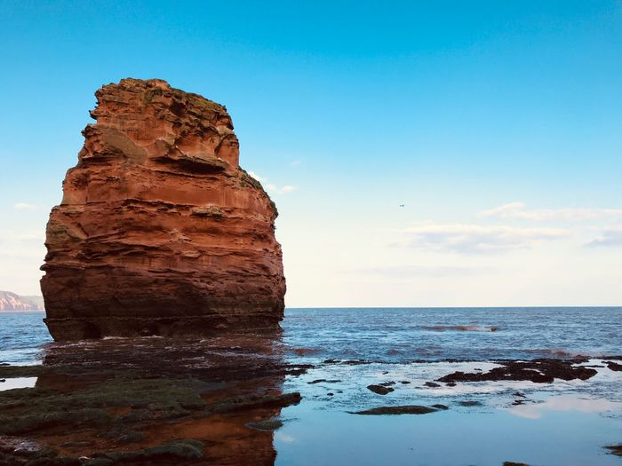 Sky Sea Water Rock Rock - Object Solid Rock Formation Scenics - Nature Beauty In Nature Tranquility Tranquil Scene Nature Horizon Horizon Over Water Beach Outdoors