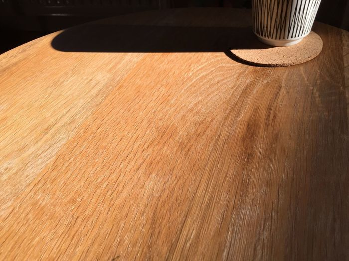 Close-up of shadow on floor