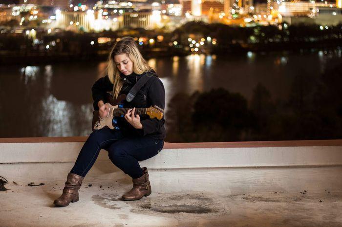 Portrait Of A Friend Portrait City Citylights Skyline Cityscape Guitar Fender Stratocaster Fenderguitar Guitars