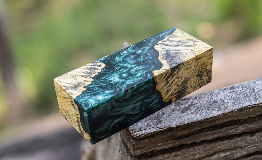 Close-up of multi colored wood