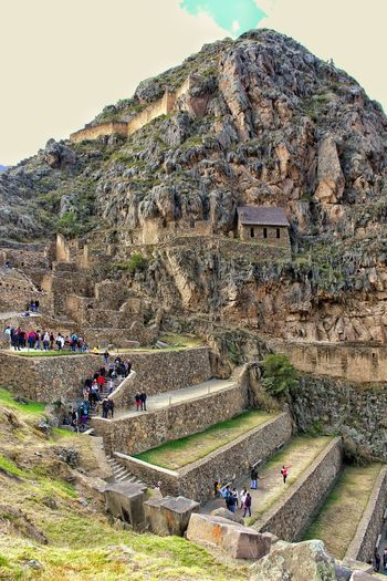 Archaeological park of Ollantaytambo Partener Selection Mountain Men Sitting Crowd Sky Landscape