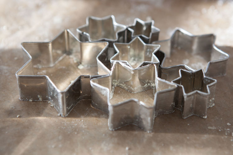 Close-Up Of Pastry Cutter On Table