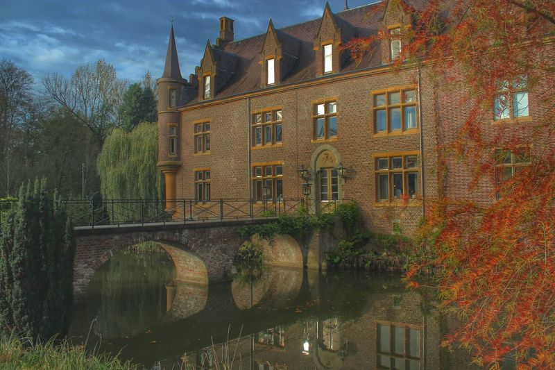 Myhdrworld Architecture Castle Ter Worm Lovelynatureshots Water Reflections Buildings Colorful