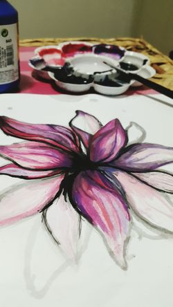 Make Magic Happen Drawing Painting Flower Drawing Colorful Tinta Desenho Flor Cores
