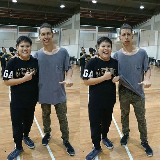 With the great PACMAN dancer @phillipchbeeb Pacman Philipchbeeb