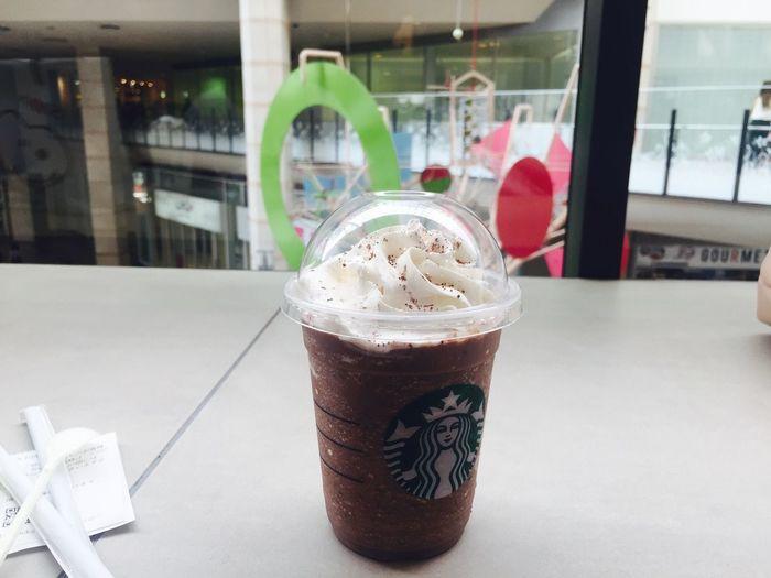 Starbucks スタバ ダークモカチップ いつも通り Always Order This Ilikeit Good Relaxing Happy Happyday Enjoying Life Drinks
