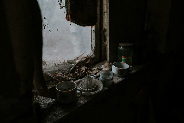 Memories Indoors  No People Window Abandoned Household Equipment Dirt Absence Tea Cup Old Urban Exploration Memories Memory