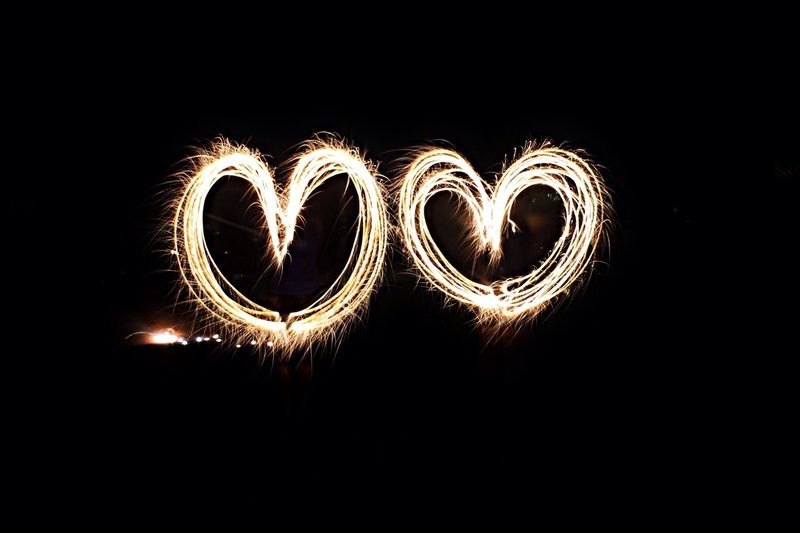 Slow Shutter Fourth Of July Two Hearts Heart
