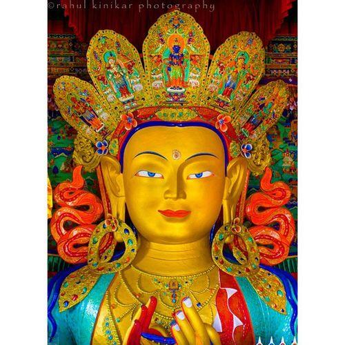 The Maitreya Buddha.. No one saves us but ourselves. No one can and no one may. We ourselves must walk the path... - Lord Buddha Buddhism Buddha Maitreya Thiksey Leh Ladakh Himalayas India Indiapictures Incredibleindia Indiaclicks Instaclicks Coloursofindia Canon Shotoftheday Picoftheday India