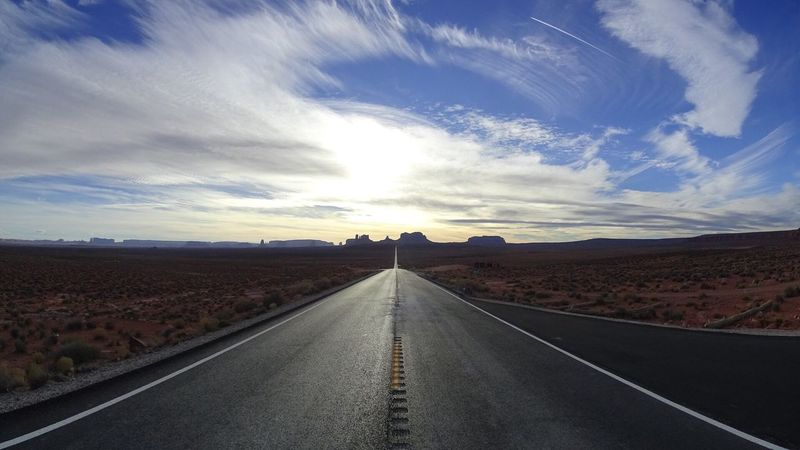 Sky Road Cloud - Sky Desert The Way Forward Scenics No People Winding Road Nature Landscape endless road