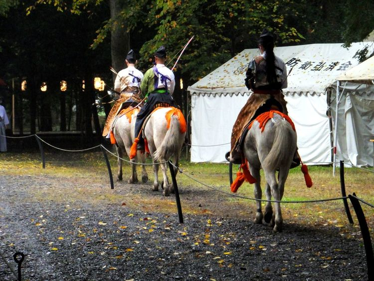 Were cheers for good work. Yabusame Archery Horse Culture