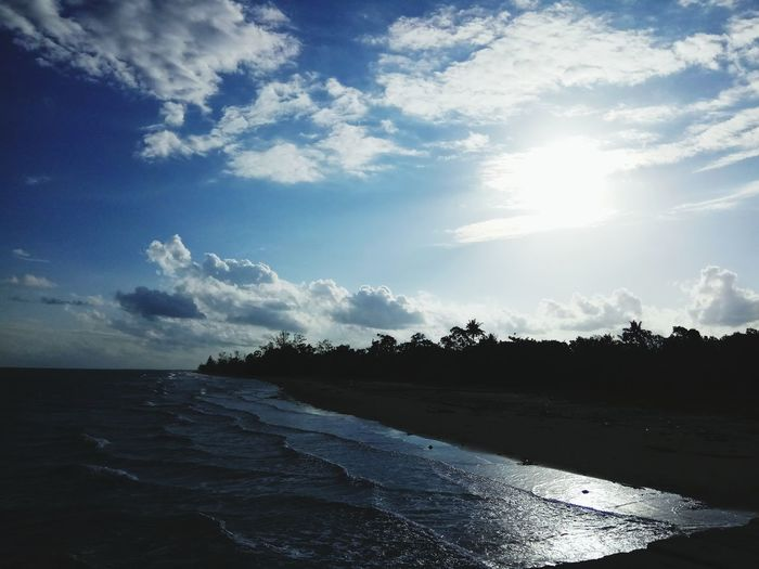 Pantai Pagatan Kalimantan Kalimantan Selatan Pagatan Pagatanbeach Sea Beach Summer Sky Horizon Over Water Landscape Cloud - Sky