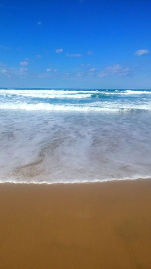 Sea Beach Sand Horizon Over Water Blue Nature Water Sky Wave No People Beauty In Nature Day Outdoors Suny Day ☀️ Sea Life