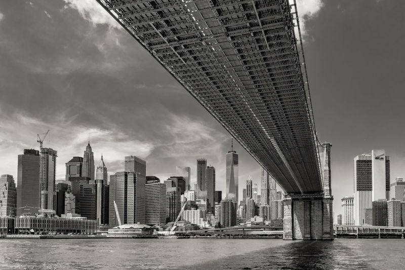 Blackandwhite Monochrome NYC Brooklyn Bridge  New York City New York
