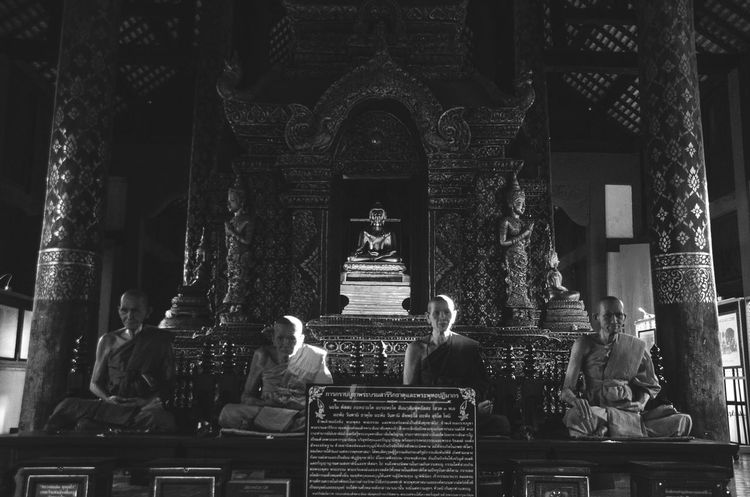 EyeEm Selects Photooftheweek Photography Famous Place Thailand Thai Lifestyles Old Buildings Outdoors Old Buddhism Built Structure Northern Thailand Thaistyle EyeEm Best Shots #blackandwhite #EyeEmNewHere Lightandshadow #travel # Religion Indoors  Spirituality Place Of Worship Business Finance And Industry Architecture No People Day