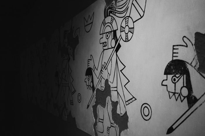 Art And Craft Creativity Graffiti Wall - Building Feature Drawing - Activity Sketch Male Likeness Text Human Representation Paper Communication Doodle Street Art Indoors  Drawing Close-up Day Architecture EyEmNewHere Museosican Lambayeque Ferreñafe Peru Travelling