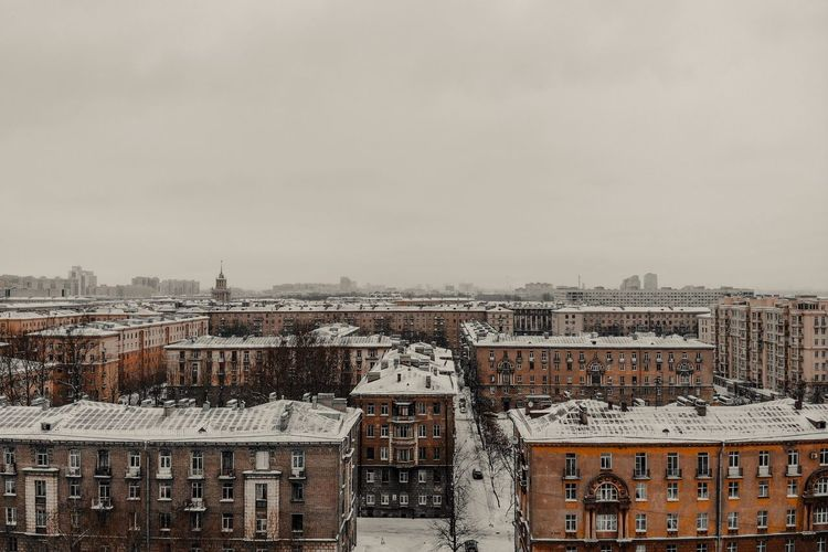Saint Petersburg Architecture Built Structure Building Exterior Building City Residential District Sky No People Day Outdoors House High Angle View Clear Sky Town TOWNSCAPE Cityscape